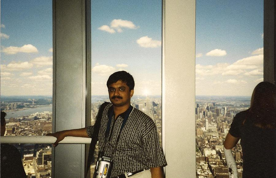 MY_WTC #235 | Venkatarangan 1999 | From WTC towers observation deck