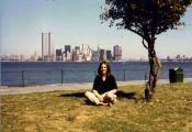 MY_WTC #253   Cynthia   Twin Towers late 1980, from Liberty Island