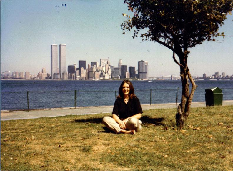 MY_WTC #253 | Cynthia | Twin Towers late 1980, from Liberty Island