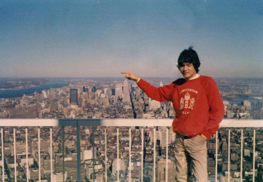 MY_WTC #258 | Reice | Reice Hamel Jr. on Tower 1 World Trade Center NYC 1980