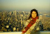 MY_WTC #356 | John 1984/85 | Color Snapshot: Nancy, Manhattan, Looking North