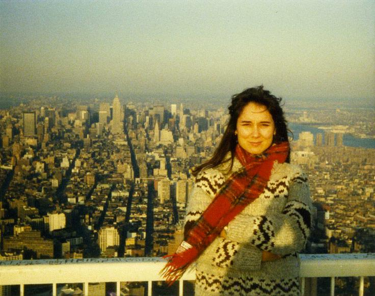 MY_WTC #356 | John 1984/85 | Color Snapshot: Nancy, Manhattan, Looking North