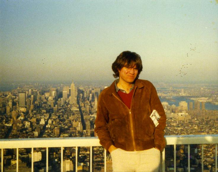 MY_WTC #357 | John 1984/85 | Color Snapshot: John, Manhattan, Looking North