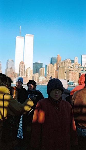 MY_WTC #410 | Jun 2000 | my wife with the passengers on boat, going to Liverty Island
