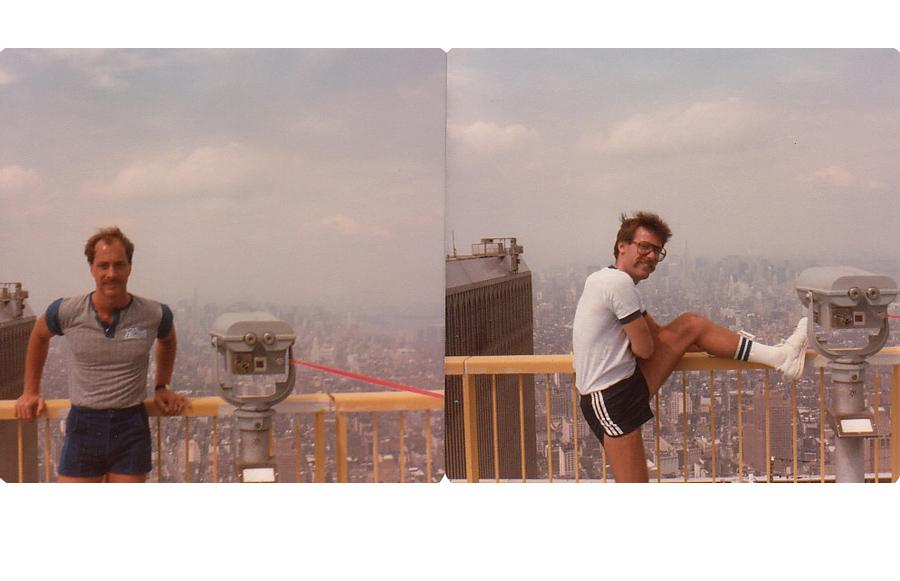 MY_WTC #488 | David 1984 | David & Peter on top of the world