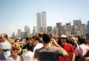 MY_WTC #520 | Mel 2001 | View of World Trade Center from Statue of Liberty
