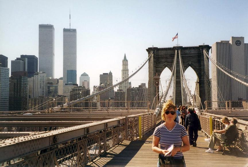 MY_WTC #519 | Mel 2001 | Barbara on Brooklyn Bridge