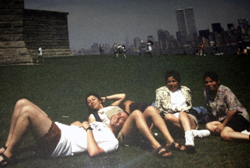 MY_WTC #563 | Pete 1990s | Laying on the grass with my future wife