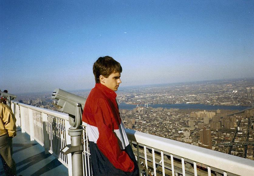MY_WTC #566 | Martin, April 1986 | Robert O. stoked about being on top of the WTC