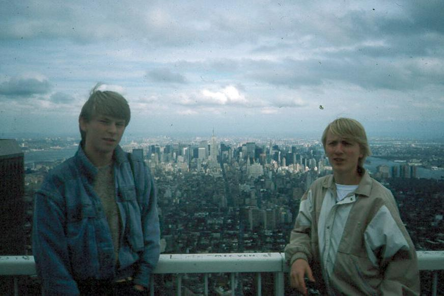 MY_WTC #569 | Tim 1985 | Tim and Rich on top of the world