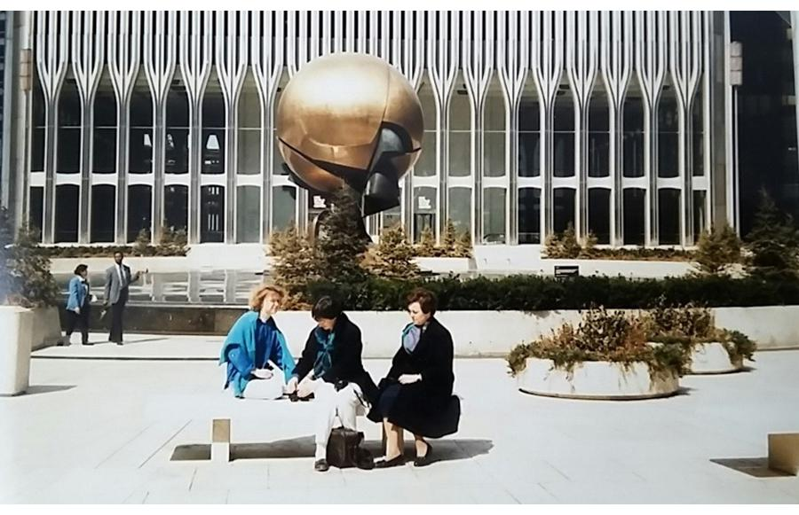 "MY_WTC #617 | Angelika, Easter 1986 | The ""Sphere"" at Austin Tobin Plaza"