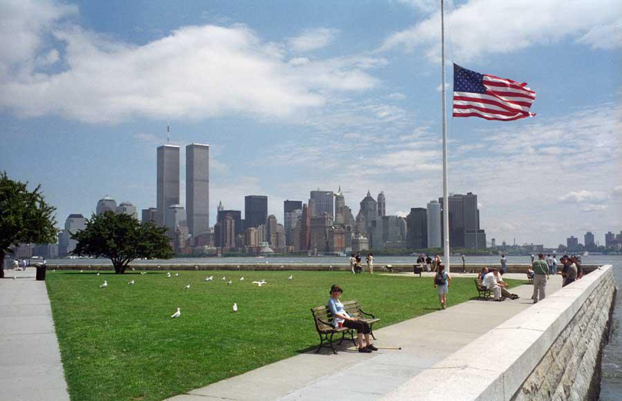 MY_WTC #95 | Lynn July 2000 | WTC from Ellis Island